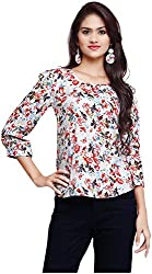 OSSI Women's 3/4 th Sleeve Top (HS3054, Multi-Coloured, Small)
