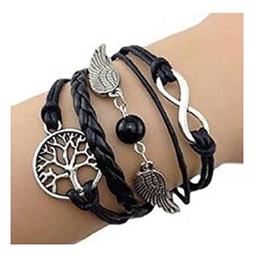 Axiba Fashion Infinity Pearl Charm Bracelet