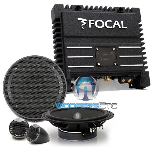 "Pkg Focal Solid-2 2-Channel Amplifier + Is165 6.5"" Component Speakers System"