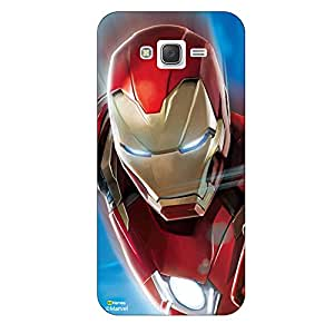 Hamee Marvel Civil War Captain America Iron Man Licensed Hard Back Case Cover For Samsung Galaxy J5 - 2016 edition Cover - Design 9