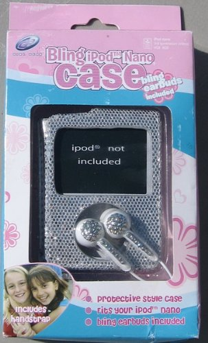 Girl Gear Silver Bling Ipod Nano Case With Earbud Headphones 17797-Slv