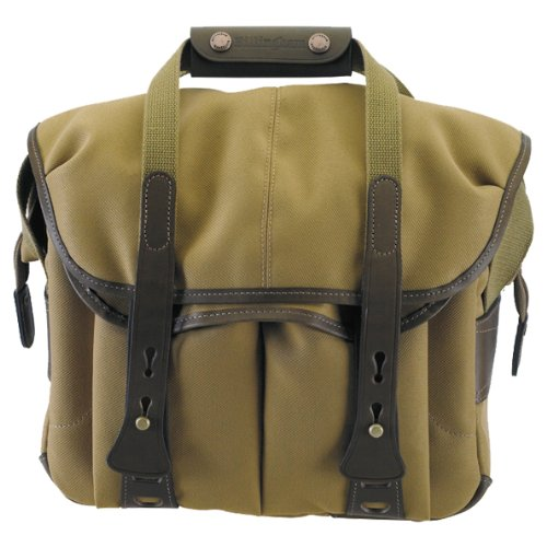 Billingham 207 Khaki FibreNyte Camera Bag with Chocolate Leather Trim