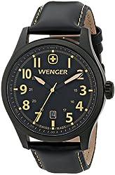 Wenger Men's 0541.105 Analog Display Swiss Quartz Black Watch
