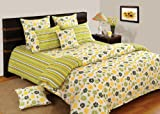 Swayam Shades of Paradise Printed Cotton Double Duvet Cover - Yellow (TSR02-5203)