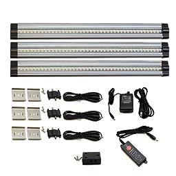 Lightkiwi T4460 Under Cabinet Lighting 42 LED 24V 3 Panel Premium Kit, Cool White