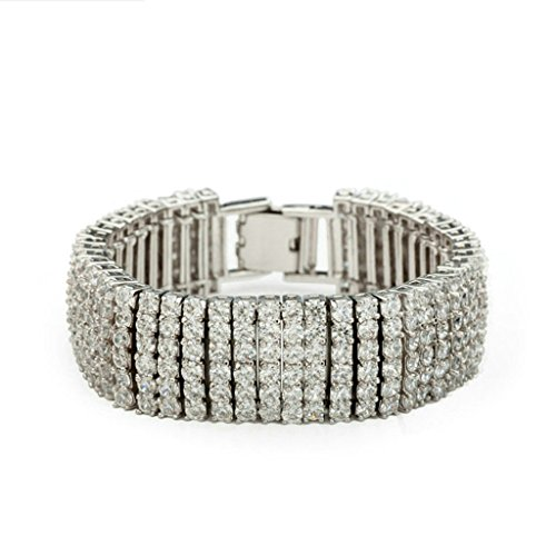 Daesar Gold Plated Bracelets Womens Charm Bracelet White CZ Bracelet Bracelet for Women Length:17CM (White Nail Polish Essie compare prices)