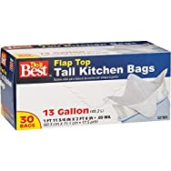 Do it Best White Tall Kitchen Trash Bag-30CT 13GAL KITCHEN BAG