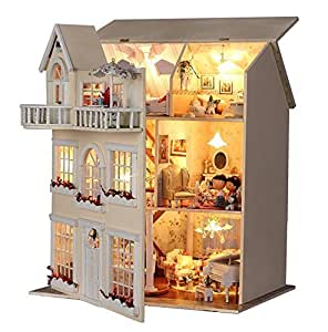 Sale Rylai Handmade Wooden Dollhouse Miniature Diy Kit Best Price Dollhouses 2015