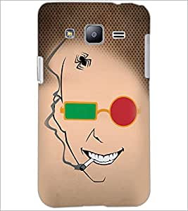 PrintDhaba Funny Sketch D-4489 Back Case Cover for SAMSUNG GALAXY J2 (Multi-Coloured)
