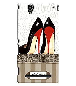 Blue Throat Stilettos Printed Designer Back Cover/Case For Sony Xperia T2