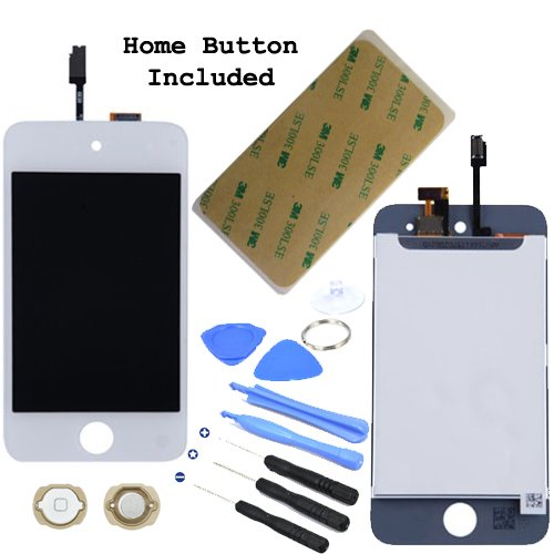 Lcd Display Touch Screen Glass Panel Digitizer White Assembly Repair Part For Ipod Touch 4Th Generation 4 4G 8Gb 16Gb 32Gb 64Gb