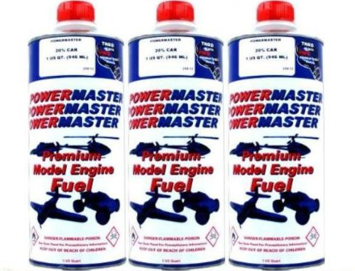 POWER MASTER ~ THREE Quarts of 20% Nitro Fuel ~ Premium Model Engine Fuel