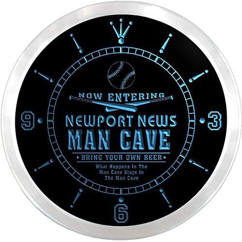 Ncqb2178-B Newport News Baseball Man Cave Bar Beer Den Led Neon Sign Wall Clock