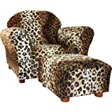 KEET Roundy Chair with Ottoman, Leopard