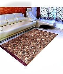 Warmland  Floral Velvet Carpet - 60