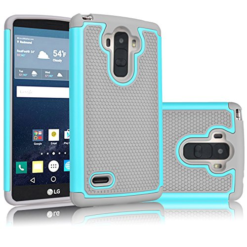 LG G Stylo Case, Tekcoo(TM) [Tmajor Series] [Turquoise/Grey] Shock Absorbing Hybrid Rubber Plastic Impact Defender Slim Rugged Dual Layer Hard Case Cover Shell For LG G Stylo, LG G4 Stylus LS770 H631 (Phone Cases Moto G Boost Mobile compare prices)