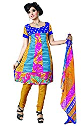 Variation Women's Multi-Coloured Crepe Unstiched Dress Material (VD11723)