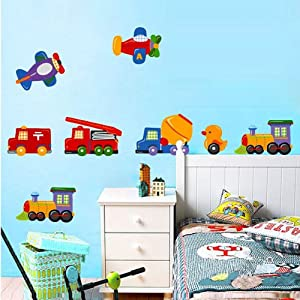fuloon neue auto wandsticker wandtattoo kinderzimmer 50. Black Bedroom Furniture Sets. Home Design Ideas