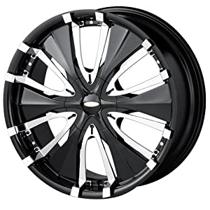 """Baccarat Passion 1130 Black Wheel with Chrome Facet (18x7.5""""/10x115mm)"""