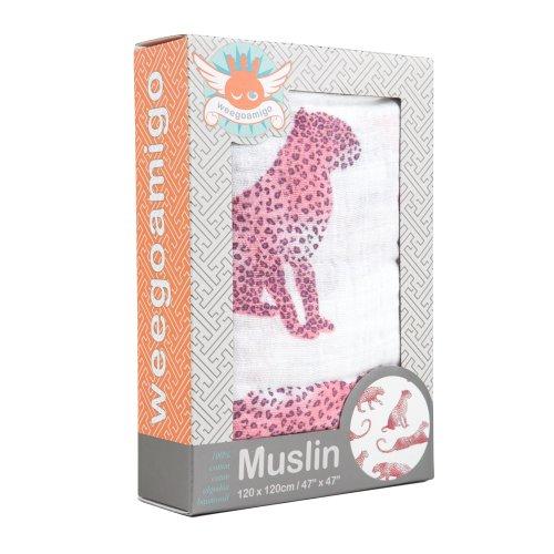 Weegoamigo - Baby Muslin Swaddle Blanket - Glamourpuss - 1
