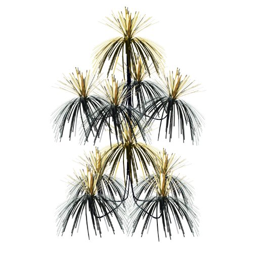 Firework Chandelier (black & gold) Party Accessory  (1 count) (1/Pkg)