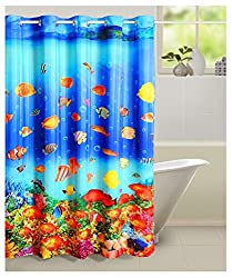 Swayam Curtain Concept Printed Polyester Premium Shower Curtain - 72