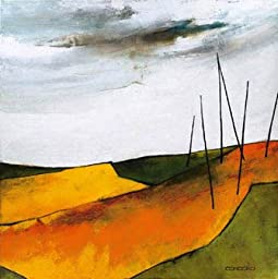 27W x 27H Fascinating Landscape VI by Emiliana Cordaro - Stretched Canvas w/ BRUSHSTROKES