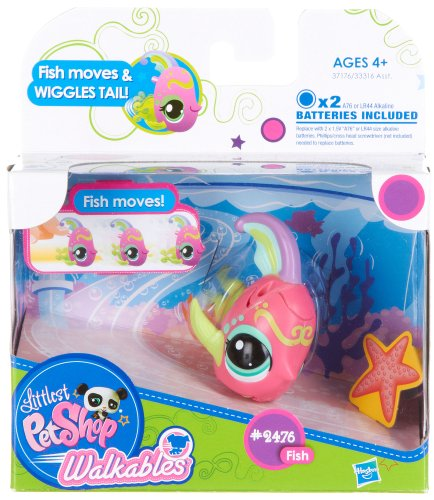 Littlest Pet Shop Walkables Figure #2476 Fish Tail Wiggles!