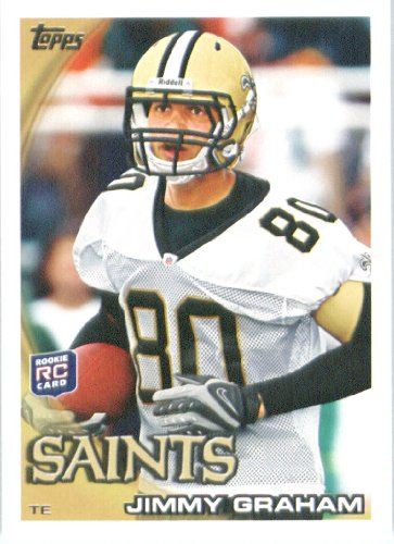 2010 Topps NFL Football Card # 265 Jimmy Graham RC - New Orleans Saints ( Rookie Card) NFL Trading Card in a Protective ScrewDown Case! at Amazon.com