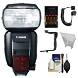 Canon Speedlite 600EX-RT Flash with Bracket & Cord + Reflector + Batteries & Charger Kit for EOS 6D, 70D, 7D, 5DS, 5D Mark II III, Rebel T3, T3i, T5, T5i, T6i, T6s, SL1 Camera Reviews