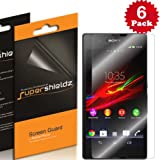 SUPERSHIELDZ- High Definition (HD) Clear Screen Protector for Sony Xperia Z + Lifetime Replacements Warranty Sony Xperia Z Screen Protector T-Mobile [6-PACK] - Retail Packaging