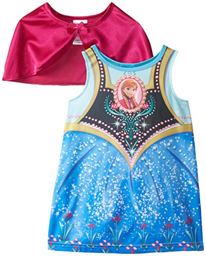 Disney Little Girls' FROZEN Anna Dress-Up Toddler Nightgown with Cape