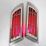 車の振動に反応 LED イルミネーション サイド 吸排気口 イミテーション 発光 ステッカー ソーラー 充電 発電 3 色 点灯 車 バイク ライト 迫力
