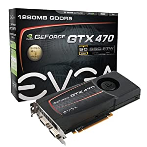 EVGA GeForce GTX470 Superclocked 1280 MB DDR5 PCI-Express 2.0 Graphics Card 012-P3-1472-AR