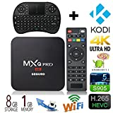 [2016 New Arrivals] GoTron® 4K Amlogic S905 Quad Core ARM Cortex A53 CPU @2.0 GHz Android TV Box XBMC Kodi Full Loaded Media Player Android 5.1 Kitkat Mini PC TV Stick 4K 1G 8G WiFi Box (With Wireless Keyboard) Hardware Specifications :  Chip...