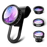 VicTsing Clip-On 180 Degree Premium Fisheye(No Dark Corner) + 0.65X Wide Angle+ 10X Macro Lens For iPhone 6 6 Plus, iPhone 5 5S 4 4S