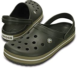 Crocs Crocband, color Dusty Olive, size 9 B(M) US Women / 7 D(M) US Men