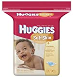 Huggies Soft Skin Baby Wipes, Refill, 184-Count Pack (Pack of 3)