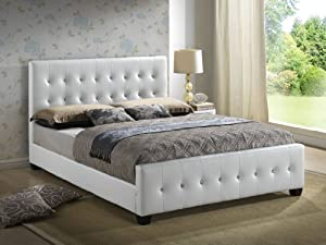 Amazon Com White Queen Size Modern Headboard Tufted