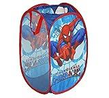 Spider Man Foldable Pop Up Mesh Laundry Basket Bag Bin Hamper Toy Tidy Storage
