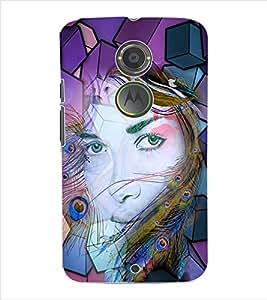 ColourCraft Girly Back Case Cover for MOTOROLA MOTO X2
