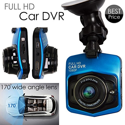 TOGUARD Blue 12MP Full HD Car Black Box DVR Camera Recorder 1080P with Wide Angle Lens Support G-sensor Motion Detection Loop Recorder HDMI Output Night Vision G-sensor(2.46 1080p FHD) TOGUARD LOGO on the product by TOGUARD