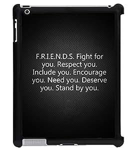 Printvisa 2D Printed Quotes Designer back case cover for Apple ipad 2 - D4539