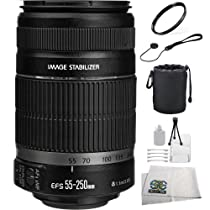 Canon EFS 55-250mm f/4.0-5.6 IS II Lens + Accessory Kit