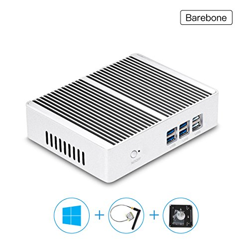 XCY Fanless Aluminium Alloy Mini Pc Computer Intel Core I3 4005U Desktops Windows 10 (Barebone)