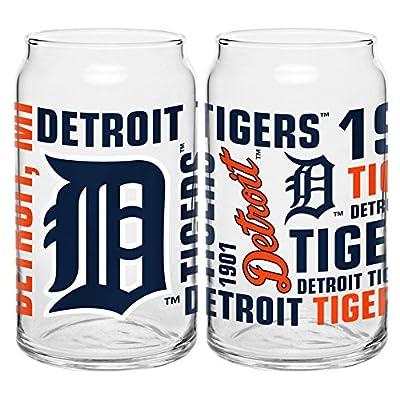 MLB Boelter Brand Detroit Tigers 16oz Spirit Glass Can