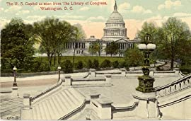 1915 Vintage Postcard The U.S. Capitol as seen from the Library of Congress Washington D.C.