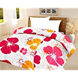 Lali Prints Big Floral Quilt Blue A.C Blanket Double Bed Size Dohar