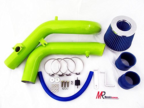 05 06 Scion tC 2.4L VVTi L4 Green Piping Cold Air Intake System Kit with Blue Filter (Cold Air Intake For 2006 Scion Tc compare prices)