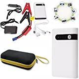 12V 12000mAh 400A Emergency Portable Car Jump Starter Battery Charger 4USB Phone Power Bank Auto Booster Power Pack High Power LED Flashlight